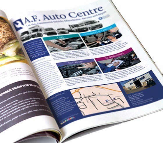 An image of an advert design for A F Autos.