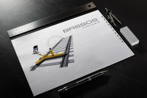 An image showing the final logo design for BROSSOS on a sketchpad.