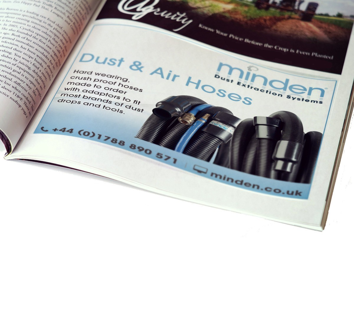 An image showing the design for a half page advert for Minden Systems.
